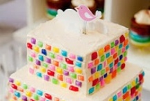 Cakes: Candy-Covered / Skittles and sprinkles and Starbursts, oh my! / by Lauren Schultz
