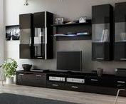 Black furniture || Czarne meble / Furniture || corner sofa || armchair || others Meble || Narożniki || Fotele || Inne http://www.mirjan24.pl/25-meble-tapicerowane #mirjan24 #cornersofa #armchair #furniture #narożniki #fotele #meble #home #dom #livingroom #salon