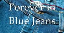 *~*Forever-in-Blue-Jeans*~* / This board is for us that love our Blue Jeans!,,,,And all the ways we wear them,,dressed up or casual,they our most loved fashion..And when they wear out we make more things out of them. So lets show all the ways we wear and love our Blue Jeans!