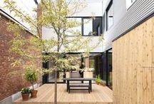 projet : terrasse / Inspiration pour une terrasse urbaine à Montréal.