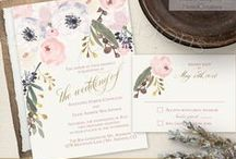 Watercolor Floral 2017 Wedding Invitations / Planning a romantic and whimsical boho watercolor floral theme wedding? Watercolor wedding invitations set with modern handwritten calligraphy and a wide variety of color choices avaiable. The perfect complement for a shabby chic, rustic, boho chic, or barn wedding, bohemian wedding venues, country weddings and so much more.