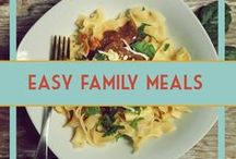 Easy Family Meals / Easy meals to make for your family. Kid friendly dinners