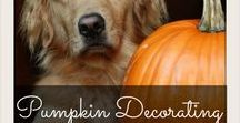 Pumpkin Decorating / Pumpkin carving ideas and pumpkin painting ideas, for harvest party or Halloween.