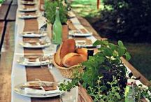 On the Kitchen Table / For the most beautiful of tablescapes, table linens, centerpieces, home entertaining ideas and place settings.  / by Where Women Cook