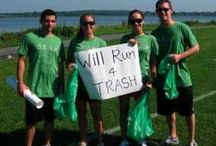 Trash Runners Unite! / What is trash running you ask? Only the hottest new sports activity! Trash running combines fresh air, physical activity, and litter collection. It's very simple and can be done just about anywhere. Just grab a bag, move your feet, and pick up some trash. As unglamorous as it may sound, it is a trashy good time and an incredible work out. As an added bonus, you do something great for the environment. Check online or FB for a group near you! trash runners, trash running, will run 4 trash
