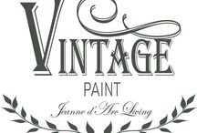 """""""Vintage Paint"""" by Jeanne d'Arc Living / Canadian retailer for this new to Canada lime based paint from Denmark for furniture and more!"""