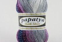 Papatya Batik Silver / Richly coloured premium acrylic yarn with a hint of glitz and glam.