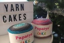 Papatya Cake / Vibrant and variegated, Papatya Cake yarn is a versatile yarn great for garments, home décor and accessories.
