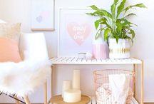 rose gold&pastel ROOM IDEAS