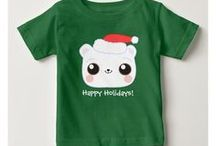 Cute Holidays / This board features a sample of holiday (Happy Holidays and Merry Christmas themed) products from a collection (visit Zazzle store). It features two cartoon designs: one of an adorable baby reindeer (fawn) and the other is a cuddly baby polar bear(cub).