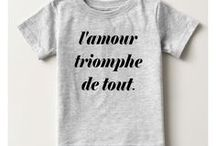 """Classic Typography Love Conquers All, Amour Quote / This board presents a sample of products available featuring an inspirational quote: """"L'Amour Triomphe de Tout"""". Love conquers all. To read more about the meaning and the design features visit our store>>"""