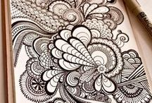 Zentangle TANGLES and Doodles