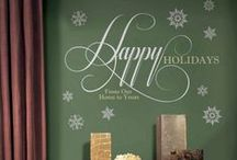 Peel & Stick Holiday Decor / Deck the walls with RoomMates peel and stick holiday decor and holiday decorations & DIY seasonal decor ideas! / by RoomMates Decor: Wall Decals & More