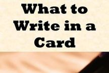 cards / make your own greeting cards, birthday, get well, thank you. be artistic and creative, or creatively copy.