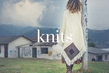 knits / Chunky, warm, huggable knitwear that makes you feel loved and wrapped up.