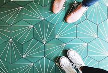 Tiled floor inspiration / I really want a tiled floor either in my hallway or kitchen and here I have pinned some inspo. Enjoy!