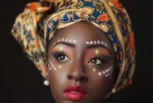 African fashion/makeup