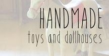 Handmade Toys and Dollhouses / Handcrafted, rustic, and vintage wooden toys, dollhouses, and children's items.