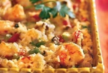 Food-Casserole Recipes / Casseroles are one of those great go-to dishes to take to sick friends, shut-ins, and church socials.You never go wrong with a great casserole. They give you a feeling of happiness and of course fill up your stomach. :) / by Carol Rider