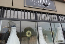 A Season of SPARKLE / Trade in traditional Red and Green for a modern take on the holidays - deck your halls with Blue and Gold this year!  Let SPARKLE bridal couture show you this modern color combination with our December 2012 window display... and may you have a sparkling holiday season!
