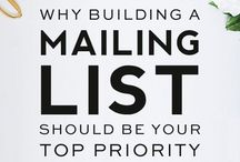 Entrepreneur Email List Design/Growth / Tips and Ideas to build your email list and design awesome emails that inspire action in your potential customers:  A must for every creative entrepreneur, small business owner, and blogger!