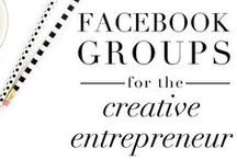Social Media Facebook Strategy/Tips / Social media Facebook strategies, tips, and guides to gain a following and get visible to your ideal clients online! Focusing on Facebook groups and posting strategies for creative entrepreneurs and small business owners.