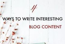 Blog Design + Content Tips/Ideas / Blog tips and blogging ideas both for beginners and pros. Pins about blog post ideas, creating blog content, blog design, blog photography, and making your blog beautiful!