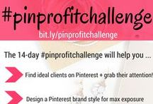 #PinProfitChallenge 14 Day Pinterest Challenge / Join the 14 Day #PinProfitChallenge to create a profitable Pinterest strategy! Daily tips and lessons on using Pinterest to explode the profitability of your online small business. Join us at bit.ly/pinprofitchallenge.