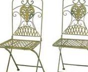 Gartenstuhl Bistrostuhl Klappstuhl Eisenstuhl - Garden chair Bistro Chair / Wunderschöner Gartenstuhl aus Eisen im Antik-Stil hergestellt. Er eignet sich hervorragend um während des Sommers seine Zeit im Garten entspannter zu gestalten. Der Stuhl ist kalppbar. Ideale Gartenmöbel für Terrasse, Balkon, Garten oder drinnen als Bistrostuhl. Mehr Informationen findet Ihr in unserem Shop. #werbung #aubaho #garten #möbel #furniture #desk #garden #chair #stuhl #auktionshausbadhomburg