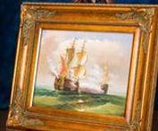 Schiff Ölgemälde - Ship Oil Painting / Wunderschönes original Ölgemälde von Segelschiffen, vom Künstler signiert. Beautiful original oil painting on canvas, signed by the artist. #werbung #auktionshausbadhomburg #auktionshaus #aubaho #ölgemälde #gemälde #oilpainting #painting #art #kunst #artist #sea #beach #trip #see #künstler #reise #meer #schiff #segelschiff #ship #boat #ocean #sail #sailboat #walldecoration #wanddeko #bild #canvas #artoftheday #wallart #gallery #galerie #harbour #hafen #wave #welle