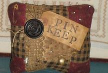 Art - PinKeeps/Make Do's/Needle-books/scissors fabs / Gotta stick it somewhere......Love Pin keeps n needle keepers / by Rinnie Hunt Henry