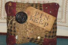 Art - PinKeeps/Make Do's/Needle-books/scissors fabs / Gotta stick it somewhere......Love Pin keeps n needle keepers