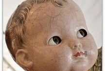 Dolls of Another Time / I love old composition dolls. I have a few myself / by Rinnie Hunt Henry