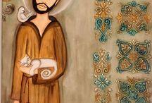 Francisco de Assis / Senhor, fazei-me instrumento de vossa paz. Onde houver ódio, que eu leve o amor; Onde houver ofensa, que eu leve o perdão; Onde houver discórdia, que eu leve a união; Onde houver dúvida, que eu leve a fé; Onde houver erro, que eu leve a verdade; Onde houver desespero, que eu leve a esperança; Onde houver tristeza, que eu leve a alegria; Onde houver trevas, que eu leve a luz.  Ó Mestre, Fazei que eu procure mais Consolar, que ser consolado; compreender, que ser compreendido; amar, que ser amado. Pois é dando que se recebe, é perdoando que se é perdoado, e é morrendo que se vive para a vida eterna.  - São Francisco de Assis