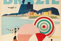 Poster de viagens vintage / A época em que viajar era puro glamour