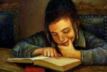 Jewish Art & Paintings ✡️ / Pinturas de Boris Shapiro, Henry Weiss, Elena Flevora e outros