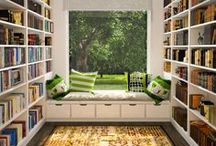 Book Nooks / Cozy, comfortable, ever so inviting book spaces that make you want to curl up with a good book and read for hours.