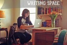 Inspiring writing spaces / Ideas, tips, and inspiration for maintaining a writing space that invites you to sit....and write.