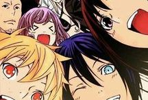 『Noragami』 / As a minor god of calamity, Yato not only has no followers but doesn't even have a shrine to his name. He charges only five yen to grant the wishes of Near Shore dwellers (the name given to the living) to save up for his shrine. Yato encounters a Near Shore girl named Hiyori Iki, whose soul frequently slips out of her body, and Yukine, a wandering spirit whom he adopts as his Regalia. Together, they work to kill off corrupted spirits while Yato continues in his quest to become a famous god.