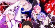 『Re: Zero - Starting Life in Another World』 / Shortly after being summoned to a new world, Subaru Natsuki and his new female companion are brutally murdered. But then he awakes to find himself in the same alley, with the same thugs, the same girl, and the day begins to repeat.