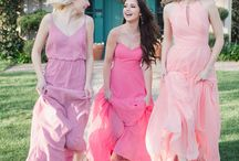 PINK BRIDESMAID DRESSES + WEDDINGS / Pretty in pink! What bridesmaid wouldn't feel ultra pretty and feminine in a gorgeous pink bridesmaid dress? A perfect color for a wedding in any season! Pink dresses, formal pink gowns, shades of pink dresses, pink prom dresses, blush pink bridesmaid dresses, bright pink bridesmaid dresses, pink bridesmaid gown, short pink bridesmaid dress, long pink bridesmaid dress, medium length pink bridesmaid dress