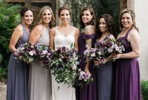 PURPLE BRIDESMAID DRESSES + WEDDINGS / In chiffon, satin, lace and more these purple bridesmaid dresses are great for any wedding. Elegant and sophisticated, long or short, purple is a fabulous addition to any wedding color palette!