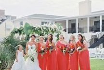 ORANGE BRIDESMAID DRESSES + WEDDINGS / If you're looking for a bright and vibrant color for your wedding day consider going with gorgeous orange. Bright and bold, it'll add a beautiful hue to your Big Day!