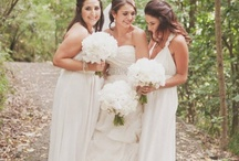 White/Ivory Bridesmaid Dresses  / Looking for white bridesmaid dresses for your wedding day? It's a beautiful choice in satin, lace or chiffon. Whether long or short, it's a color your maids will wear again and again! / by Dessy Group