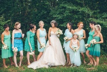 Blue Bridesmaid Dresses / Think gorgeous Spring and Summer weddings filled with bright colors. Blue bridesmaid dresses are the perfect addition to your Big Day color palette. Whether they are long, short or tea-length your bridesmaids are sure to love this classic color! / by Dessy Group