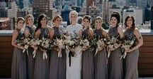 BROWN BRIDESMAID DRESSES + WEDDINGS / Pretty brown bridesmaid dresses are a great addition to any earth toned wedding and work great for a fall or winter wedding. Check out our fab finds below!