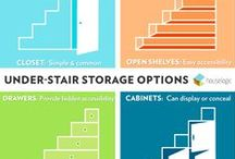 Staircase Makeovers / Your stairs can become a lot more than just stairs. These clever storage and organization and home improvement projects will take your steps to the next level.