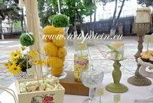 lemon decoration / baptism lemon theme decoration
