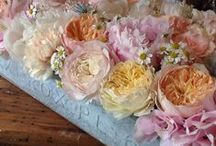Flowers in a box / Our hand crafted boxes from our Make and take workshops at Barnsley House