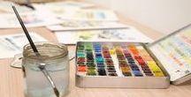 Atelier d'aquarelle/cours d'aquarelle / Présentation de l'atelier Voyage en aquarelle, où vous pouvez venir découvrir mes galeries d'aquarelles en vente sur mon site ou en atelier, ou bien prendre des cours et stages d'aquarelle.